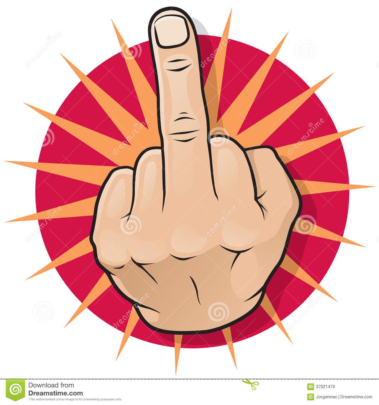 Middle finger up