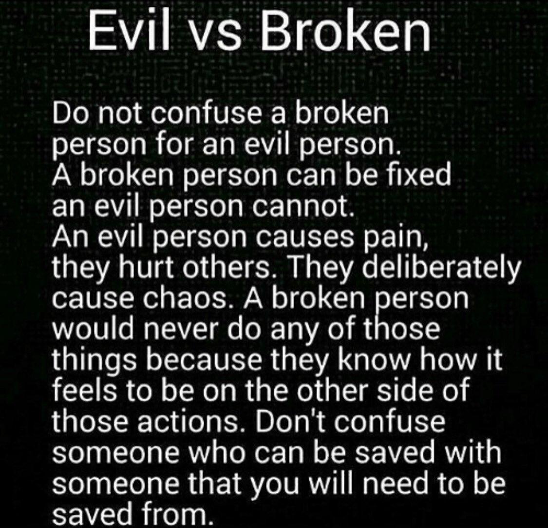 Evil Vs Broken