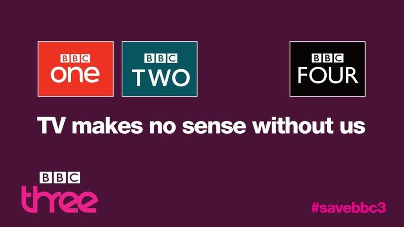 Campaign poster to save BBC Three