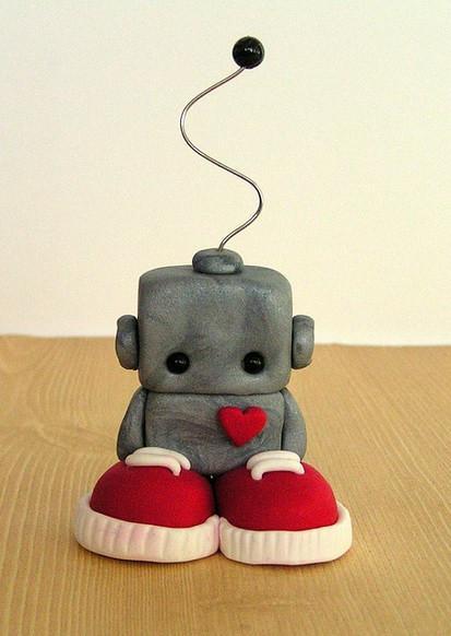 sad robot broken heart love loss heartache cute LittleGreyCoconut flickr